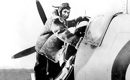 Amy Johnson and Spitfire
